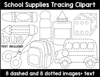 Tracing Clipart Worksheets & Teaching Resources | TpT