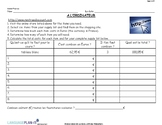 SCHOOL SUPPLIES WEB QUEST (FRENCH)