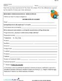 SCHOOL SUPPLIES WEBQUEST (SPANISH)