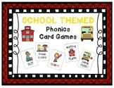 SCHOOL-THEMED Phonics Game Cards BUNDLE - Letters, CVC, Bl