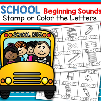 SCHOOL TIME Beginning Sounds FREE