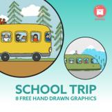 SCHOOL TRIP: 8 free hand drawn Logos to style your documen