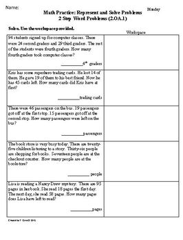 SCHOOL YEAR Worksheets for 2nd Grade Math Common Core aligned