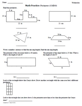 SCHOOL YEAR Worksheets for 3rd Grade Math Common Core aligned