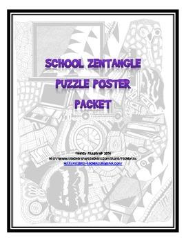 SCHOOL ZENTANGLE PUZZLE POSTER PACKET