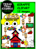 SCHOOL GIRAFFES CLIPART {Texas Twist Scribbles}