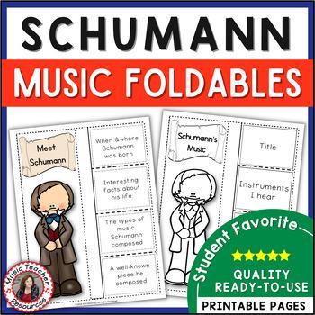 Music Listening: Composer Schumann: Interactive Listening Journal Foldables