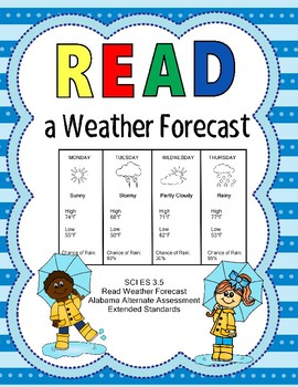 SCI 3.5 Read a Weather Foredcast Extended Standard  NEW AAA