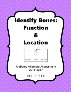 SCI ES 11.2 Identify Location and Function of Bones  AAA Extended Standards