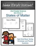 SCI ES 2.1 States of Matter  Book, Sorting Activity, & Pra