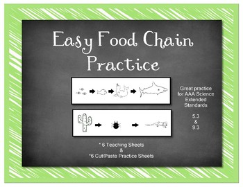 SCI ES 5.3 & 9.3 Food Chain AAA Extended Standards Practice