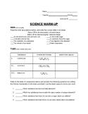 SCI Warm-Up Mon-Fri Chemistry