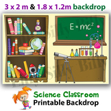 SCIENCE BACKDROP - 3 x 2m & 1.8 x 1.2m Classroom Decoration PRINTABLE Backdrop