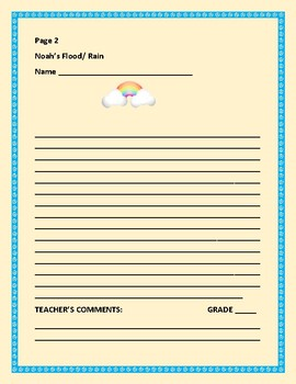 SCIENCE/BIBLE WRITING RESEARCH PROMPT: NOAH'S FLOOD & RAIN