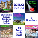 SCIENCE BUNDLE: Animals, Worksheets, Graphic Organizers, STEM Handwriting (K-7)