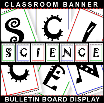 #1 Back-To-School! SCIENCE Bulletin Board Display for Classroom Signage!