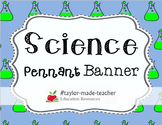 SCIENCE Bulletin Board Pennant Banner {PDF}