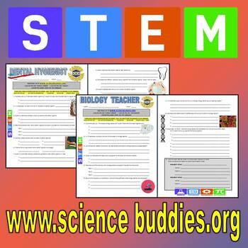 SCIENCE CAREER WEBQUEST BUNDLE 2 (20 Career Internet Assignments)