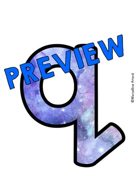 SCIENCE CLASSROOM DECOR GALAXY BULLETIN BOARD LETTERS PRINTABLE, NUMBERS, ETC