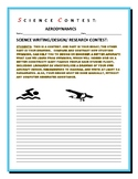 SCIENCE CONTEST: AERODYNAMICS: GRADES 4-8,  MG, GIFTED & TALENTED