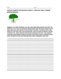 SCIENCE CONTEST/RESEARCH PROJECT: ARTIFICIAL TREES/CO2 REMOVAL  MACHINE