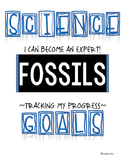 SCIENCE DATA SHEETS - FOSSILS  VOCAB, OBJECTIVES, I CAN ST