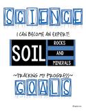 SCIENCE DATA SHEETS - SOIL, ROCKS & MINERALS VOCAB, OBJECT