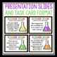 SCIENCE TASK CARDS & WARM UPS FOR DISCUSSION