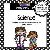 SCIENCE EMERGENT READER BOOKS AND INTERACTIVE ACTIVITIES GROWING BUNDLE