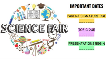 SCIENCE FAIR BUNDLE MIDDLE/HIGH SCHOOL
