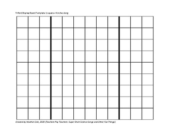 SCIENCE FAIR Tri-fold Planning: Scale Diagram of Display Board Worksheet