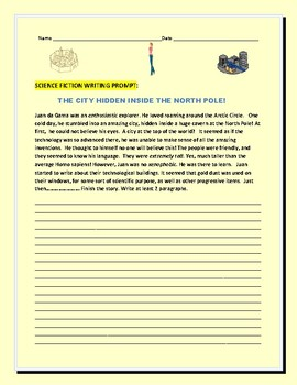 SCIENCE FICTION WRITING PROMPT: THE CITY HIDDEN INSIDE THE NORTH POLE