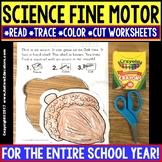 "SCIENCE FINE MOTOR SKILLS Worksheets (Read-Trace-Color-Cut) ""Growing Bundle"""