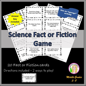 SCIENCE Fact or Fiction Game