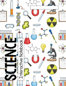 SCIENCE Interactive Notebook Cover, Grading Rubric, and Table of Contents