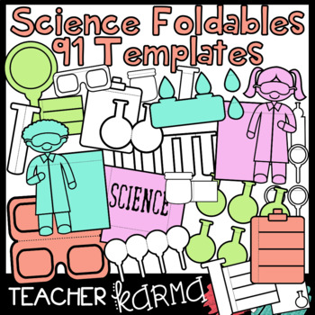 science lab 91 foldables interactives flip book templates