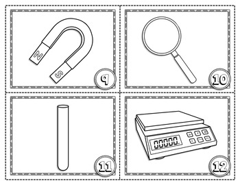 SCIENCE LAB INSTRUMENTS CARD SORT, VOCABULARY ACTIVITY, WORD WALL