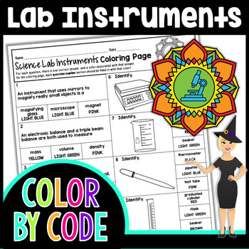SCIENCE LAB INSTRUMENTS SCIENCE COLOR BY NUMBER, QUIZ