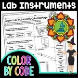 Science Lab Instruments Science Color By Number or Quiz