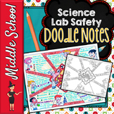 SCIENCE LAB SAFETY SCIENCE DOODLE NOTES, INTERACTIVE NOTEBOOK, ANCHOR CHART