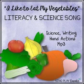 """Educational Song: """"I Like to Eat My Vegetables"""" Science, Literacy, Mp3's"""