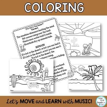 """""""It's Hot in the Desert"""" Desert Habitat Song and Literacy Activities"""