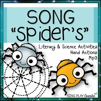 """""""SPIDERS"""" Song with Science and Literacy Writing Activities Mp3"""