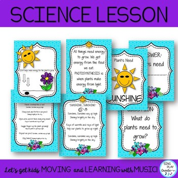 """Song """"Sunshine, Sunshine"""" with Science and Literacy Activities"""
