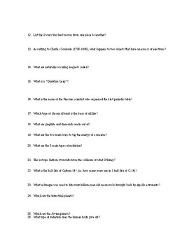 SCIENCE MATTERS Book Questions