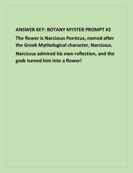SCIENCE MYSTERY BOTANY PROMPT #2