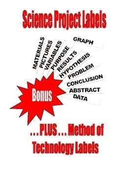 science project board and method of technology board 3 inch labels
