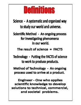 SCIENCE PROJECT BOARD and METHOD of TECHNOLOGY BOARD 3-inch LABELS