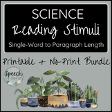 BUNDLE SCIENCE Printable and No Print Reading Cards for Ad