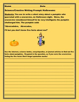 SCIENCE/RESEARCH/ CREATIVE WRITING PROMPT: HALLOWEEN